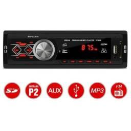 Som Automotivo 1 Din 3.5 Polegadas Usb Sd Auxiliar P2 Rádio Fm com Controle