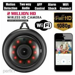 Mini Câmera HD IP 1080p Wi-FI com Visão Noturna Infravermelho