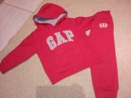 Conjunto moletom GAP vermelho tamanho 3