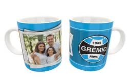 Caneca Gremio Times Porcelana 325ml #. Lelre Ymtwe