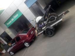 Moto de Wheeling e carreta