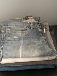 5 calças jeans tamanho 40 por 100,00