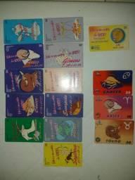 Cartões telefônico -serie- signo do zodíaco