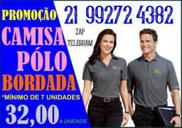 Promoção de camisas Polo bordada com sua logo