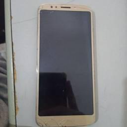Moto G6 Play usado (com defeito).