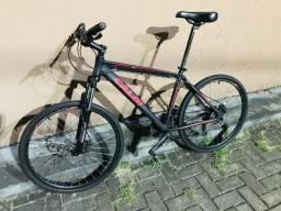 Bicicleta Híbrida Caloi Supra 30 Kit Shimano Acera Pneu Slim Ótimo Estado