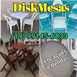 DiskMesas: Locações e Vendas de Mesas e Cadeiras, (Madeira, plástica e metal), etc.