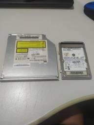 Leitor de  DVD e HD para notebook antigo