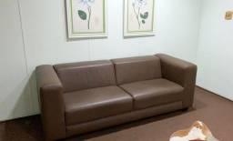 Jogo de sofás em corino