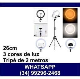 Ring Light 26cm Tripé 2 metros com Suporte Celular * Fazemos Entregas