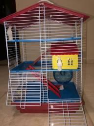 Casinha de 4 andares para hamster , com um casal de hamster com 2 meses de vida
