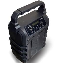 Caixa de Som Bluetooth Portátil D-S18 USB P2 P10 Preta