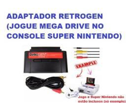 Adaptador Retrogen Jogue Mega Drive No Snes Super Nintendo