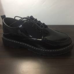 Sapato oxford unisex, estilo Dr Martens, novo