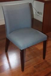 Cadeira / em Tecido Azul 86 cm x  46 cm x  46 cm