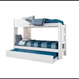 Treliche não acompanha colchão em 4x no cartão ou troca por 2 cama box de solteiro