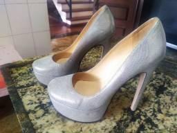 Sapato Luiz Barcelos Prateado