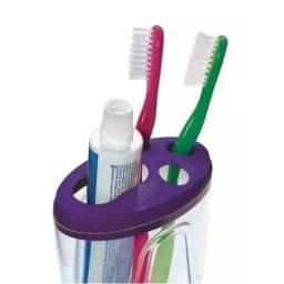 Título do anúncio: Porta Escova E Porta Creme Dental Com Tampa Varias Cores ? Acd