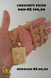 Joia de moeda antiga + banho de 10 milésimos de ouro