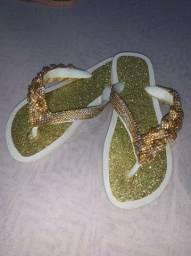 Sandália Customizada Branca