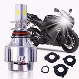 Lâmpada Led Moto H4 H6 H7 3D Mult Encaixe 6000k 4000 Lúmens 35w Honda Yamaha 150 Bross Biz