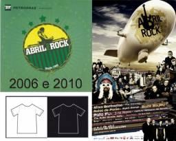 Camiseta Abril Pro Rock 2006 e 2010