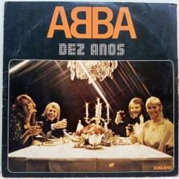 Disco Vinil (LP) Abba - Dez Anos - Conservado