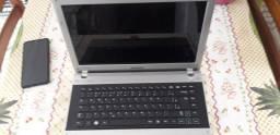 Notebook Samsung RV411 com defeito, bom para  tirar peças