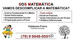 Título do anúncio: Aulas de matemática/ SOS matemática.