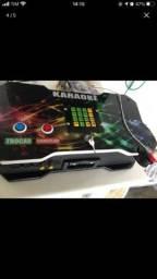 Karaokê com 9,500 músicas com catálogo impresso +câmera