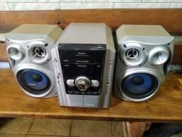 Vendo mini syster panasonic mod.ak630 usado como novo