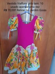 Vestido Via flora Girls Tam 10