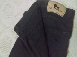 calça de sarja cinza masculina slim original lb grifes nº 40