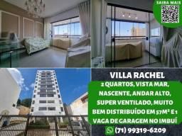 Villa Rachel, 2 quartos, nascente, vista mar, ventilado e 1 vaga no Imbuí - Oportunidade