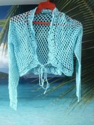 Título do anúncio: Bolero/Casaquinho Azul em Crochê