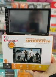 Multimídia MP5 Player 2din Bluetooth USB SD Espelhamento
