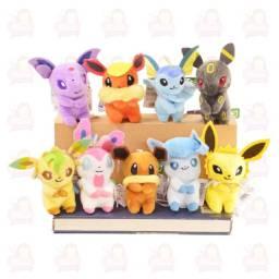 Evoluções da Eevee - pokémons pelúcia kit com 9 personagens