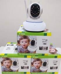 Câmera ip de seguraça Wi-fi 360° 3 antenas
