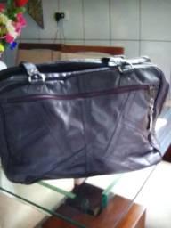 Bolsa de viagem em couro legítimo