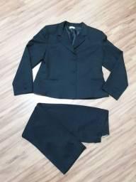 Conjunto de calça e blazer feminino tamanho G