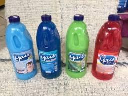Kit Produtos Limpeza 2L 4 Itens Limpa Mais Sabão Amaciante Desinfetante Detergente