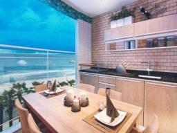Apartamento lado praia, em Mongaguá, com piscina 1 dorm 75 mil.ROB