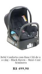Bebê Conforto Citi com base para carro, de 0 a 13 kg Black Raven Maxi-Cosi