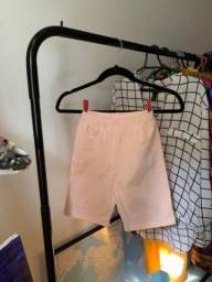 Biker shorts novo leggings rosa claro