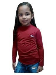Kit 45 camisa infantil manga longa proteção uv 50+