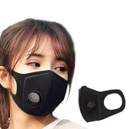 Mascara anti poluição vírus com válvula caminhada corrida bike lavável