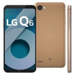 LG Q6 32gb rosa semi novo