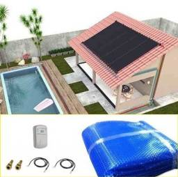 Kit Aquecedor Solar Piscina 18,9 m2 (06 Placas 3m) Pratic