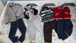 Lote roupa frio bebê / criança menino