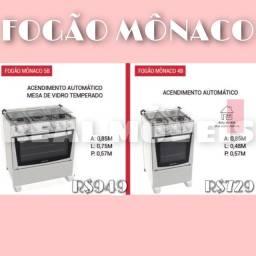 Fogão Mônaco 4 bocas fogão Mônaco 5 bocas - Real Móveis